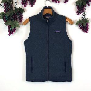 Patagonia full zip knit fleece lined vest